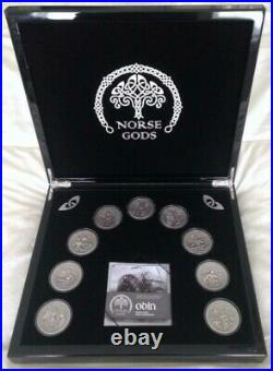 2015 Norse Gods 2 oz. Fine Silver 9-coin series, Cook Islands