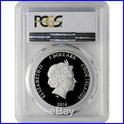 2016 Cook Island 1oz Silver 3D Coin, Orchid Miss Joaquim PCGS PR70 VERY RARE
