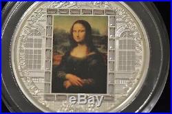 2016 Cook Islands $20 Masterpieces of Art Da Vinci Mona Lisa 3oz Silver Coin