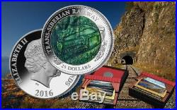 2016 Cook Islands $25 TRANS-SIBERIAN RAILWAY Mother of Pearl 5oz silver coin