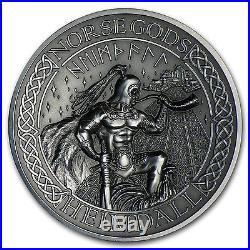 2016 Cook Islands 2 oz Silver High Relief Norse Gods Heimdall SKU #98155
