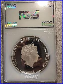 2016 Cook Islands Silver 90th Birthday QE II 3oz PCGS PR69DCAM First Strike Coin