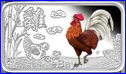 2016 Cook Islands Year of Rooster1oz Silver Rectangle Four-Coin Set Perth Mint