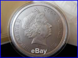 2016 St. Peter's Basilica Cook Islands $20 4-Layer 100g. 999 Silver Coin Box/COA