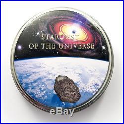2016 TAMDAKHT METEORITE METEOR Silver Coin 2$ Cook Islands