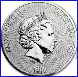 2017 1 Oz Silver Ship Bounty Coin Mintage 100 Pcs Box & Coa. Cook Islands