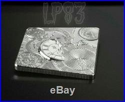 2017 1 Oz TIME CAPSULE Square Shaped Silver Coin 5$ Cook Islands
