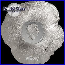 2017 1 oz. 999 fine silver Remembrance Poppy Coin $5 Cook Islands