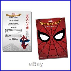 2017 1oz Cook Islands Marvel Spider-man Homecoming Silver Proof Coin