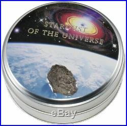 2017 $2 Cook Islands Chergach Meteorite Gilded. 999 Silver Coin PCGS MS70 FD
