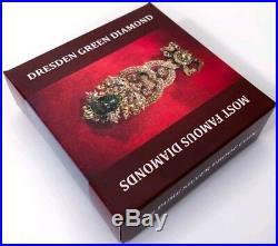 2017 2 Oz Silver $10 Cook Island DRESDEN GREEN DIAMOND Famous Diamonds Coin
