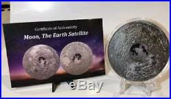 2017 3 Oz Silver $20 MOON EARTH SATELLITE Meteorites Coin
