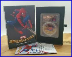 2017 $5 Cook Islands SPIDERMAN Homecoming PCGS PR69 DCAM 1oz. 999 Silver Coin