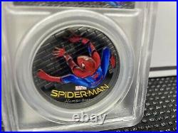 2017 $5 Cook Islands Spider-Man Homecoming 1oz. 999 Silver Coin PCGS PR69 FD