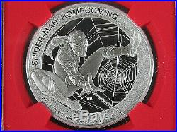 2017 Cook Isl, Spiderman Homecoming NGC Pf 70 Ucam Mercanti Signed FR