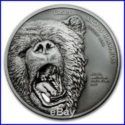 2017 Cook Islands 2 oz North American Predators Grizzly Bear SKU #104293