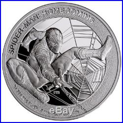 2017 Cook Islands Marvel SPIDER-MAN Homecoming 1 oz Silver PROOF $5 coin with OGP