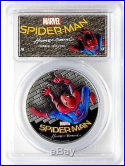 2017 Cook Islands Silver $5 Spider-Man Homecoming PR70 DCAM FDOI PCGS Coin