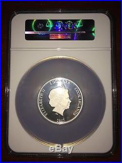 2017 Cook Islands Silver $5 Wizard Of Oz Ruby Slippers Gilt PF70 UC ER NGC Coin