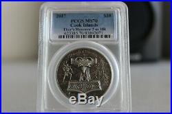 2017 Cook Islands THOR HAMMER Mjollnir 2 Oz Antiqued Silver Coin 10$ PCGS MS70