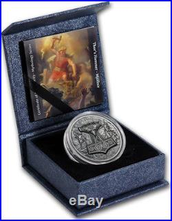 2017 Cook Islands Thor's Hammer 2oz High Relief Silver Coin