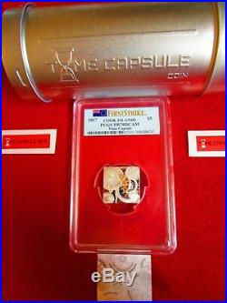 2017 Cook Islands Time Capsule 1 oz. 999 Silver Coin Proof $5 PCGS PF PR70