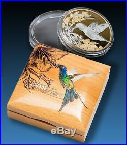 2017 HUMMINGBIRD $5 Cook Islands SILVER Coin PCGS PR70DCAM First Day Issue