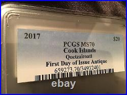 2017 Quetzalcoatl Aztec Gods Of The World 3 Oz Silver Coin PCGS MS70 $20