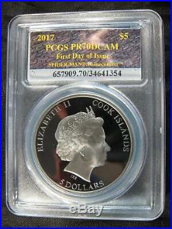 2017 Spider-Man Homecoming Black Proof First Day of Issue PR-70 DCAM 1 oz Silver
