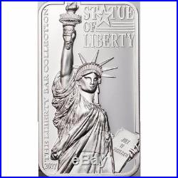 2017 Statue of Liberty High Relief 2oz Silver Coin $10 Cook Islands