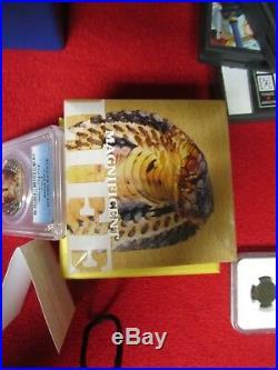 2017 cook islands cobra snake king 1 oz. 999 Silver Coin PCGS PR PF 70 COABOXOGP