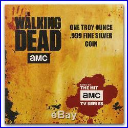 2018 1 oz Silver AMC Walking Dead Coin Cook Islands