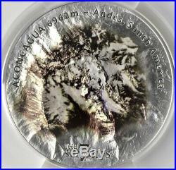 2018 $25 Cook Islands 7 Summits Aconcagua 5oz. 999 Silver Coin PCGS MS70 FD V8