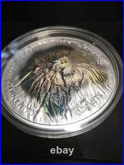 2018 $25 Cook Islands 7 Summits Kilimanjaro 5oz. 999 Silver Coin