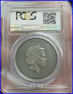 2018 2 Oz Silver $10 Cook Island SHIELD OF ATHENA Aegis Mythology MS69 FDOI Coin