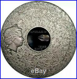 2018 3 Oz Silver $20 Cook Islands APOLLO 8 Moon Meteorites Coin
