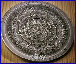 2018 3 Oz Silver Cook Island 20$ AZTEC CALENDAR STONE Archeology Symbolism Coin