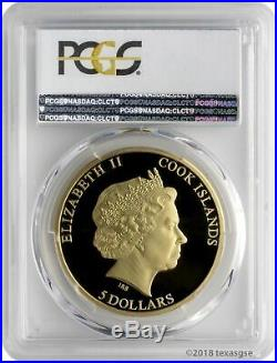2018 $5 Cook Islands Sungazer Lizard. 999 Silver Coin PCGS PR70DCAM FD