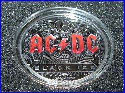 2018 AC/DC Black Ice $10 Dollars BLACK PROOF Coin Cook Islands 2 oz RARE