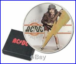 2018 AC/DC High Voltage $ 2 Dollars Silver Proof Coin Cook Islands 1/2 oz