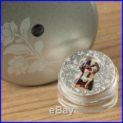 2018 Cook Islands 2 Ounce Little Secrets Keyhole Colored. 999 Silver Coin
