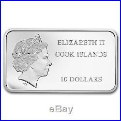 2018 Cook Islands 2 oz Silver Mount Rushmore Bar Coin SKU#162768