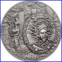 2018 Cook Islands Shield of Athena 2oz High Relief Silver Coin