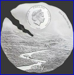 2019 1/2 Oz Silver $2 Cook Islands ESTACADO METEORITE Titanium Coin