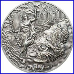 2019 Cook Islands 2 oz Talaria Winged Sandals of Hermes High Relief Silver Coin