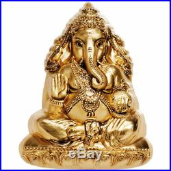 2019 Cook Islands 3 Ounce Lord Ganesha Sculptured Gold Gilded Silk Finish Silver