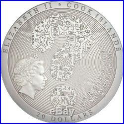2019 Cook Islands 3 Ounce Samsara Wheel of Life High Relief Silver Coin
