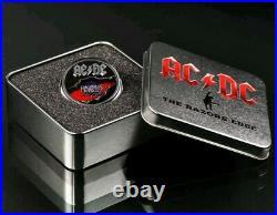2019 Cook Islands AC/DC Razors Edge 2oz Black Proof Silver Coin PR70DCAM FDI