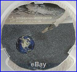 2019 Estacado Meteorite Titanium Silver PCGS MS70 FDOI $2 Cook Islands Coin