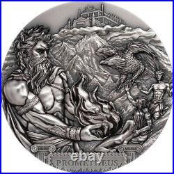 2020 $20 Titans Prometheus 3oz Silver Ultra High Relief Coin
